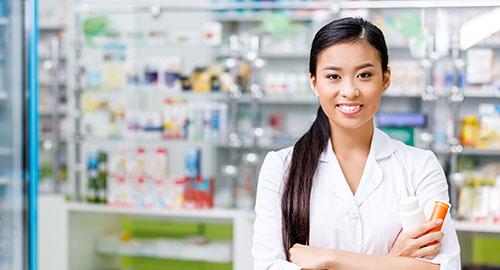 Pharmacist standing in pharmacy