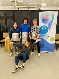 Isowater Deuterium Oxide Delivery exhibiting co-op career opportunities to students at the South Georgian Bay Region Youth Expo