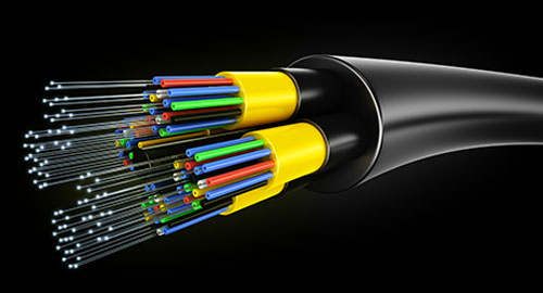 Closeup of a fibre optics cable which can be preserved with deuterium oxide products